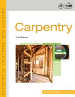 Residential Construction Academy  Carpentry PDF