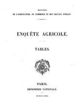 Enquête agricole: Tables