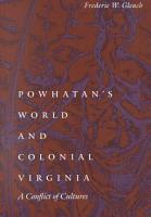 Powhatan s World and Colonial Virginia PDF