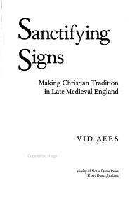 Sanctifying Signs PDF