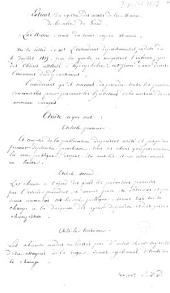 Extrait du registre des arrêtés de la mairie de la ville de Gand