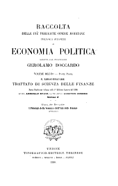 Trattato di scienza delle finanze: Volume 2
