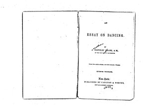 An Essay on Dancing