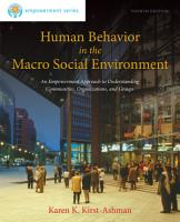 Brooks Cole Empowerment Series  Human Behavior in the Macro Social Environment PDF
