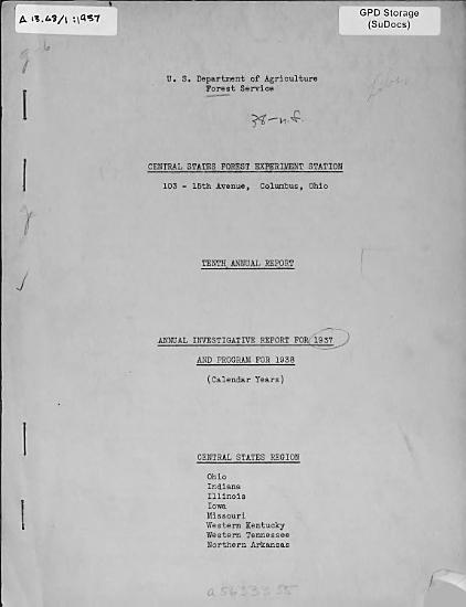 Annual Investigative Report for     and Program for     PDF