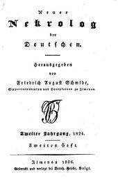 Neuer Nekrolog der Deutschen ...: Band 2,Teil 2