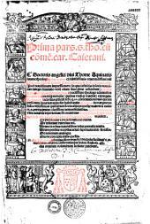 Prima pars S. thomae cum commentariis..