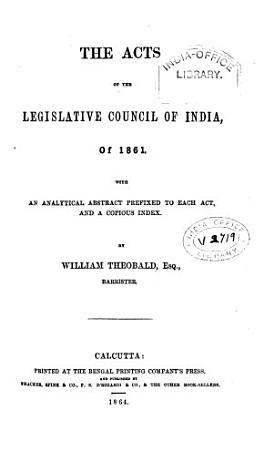 The Acts of the Legislative Council of India  of 1861 PDF