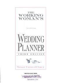 The Working Woman s Wedding Planner
