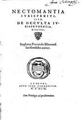 Necyomantia iurisperiti sive de occulta iurisprudentia dialogi