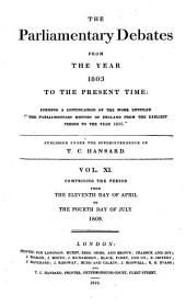 Parliamentary Debates: Official Report : ... Session of the ... Parliament of the United Kingdom of Great Britain and Ireland, Volume 11