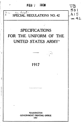 Specifications for the Uniform of the United States Army