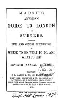 Marsh s American guide to London and suburbs  7th 8th annual ed PDF