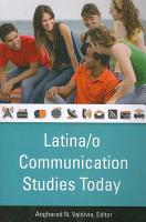 Latina o Communication Studies Today PDF