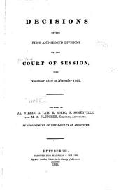 Decisions of the Court of Session: 1819-1822. 1821[-1825?