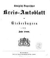 Königlich-Bayerisches Kreis-Amtsblatt von Niederbayern: 1866, 1/2