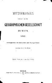 Mitteilungen der Österreichischen Geographischen Gesellschaft: Bände 33-35