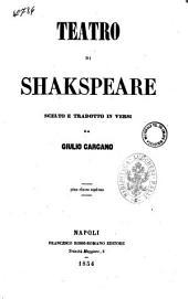 Teatro tragedia di Shakspeare