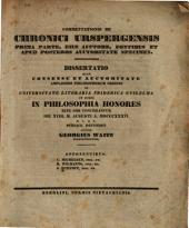 Commentationis de Chronici Urspergensis prima parte, eius auctore, fontibus et apud posteros auctoritate: Diss. (inaug. philos.)