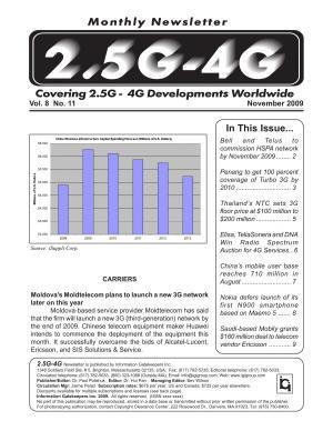2 5 4G Monthly Newsletter November 2009 PDF