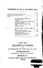 The Calcutta Journal of Medicine: A Monthly Record of the Medical Auxiliary Sciences, Volume 24, Issue 11