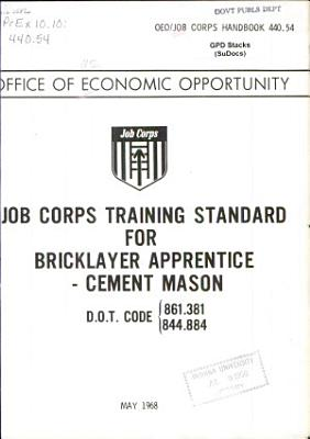 Job Corps Training Standard for Bricklayer Apprentice   Cement Mason PDF