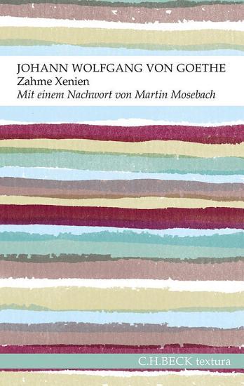 Zahme Xenien PDF