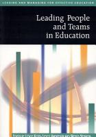 Leading People and Teams in Education PDF