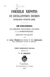 De excellentibus ducibus exterarum gentium liber: Zum schulgebrauch aus Herodot, Thucydides, Plutarch