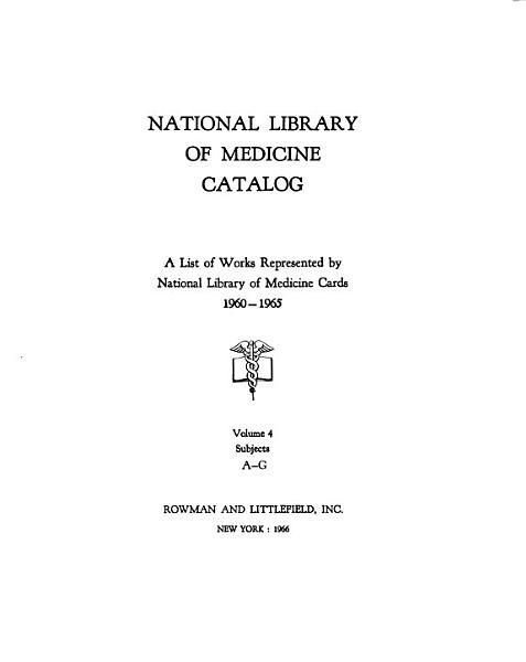 National Library of Medicine Catalog PDF