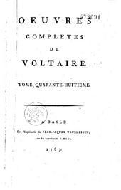 Oeuvres complètes de Voltaire: Volume47