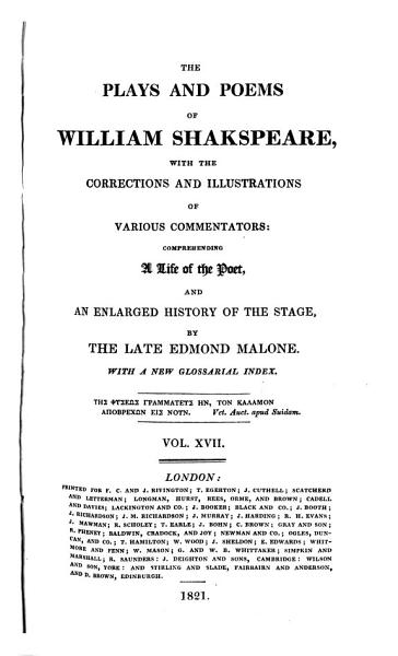 The Plays and Poems of William Shakspeare PDF