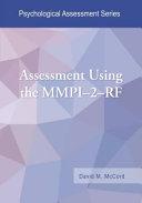 Assessment Using the MMPI 2 RF PDF