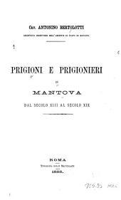 Prigioni e prigionieri in Mantova: dal secolo XIII al XIX