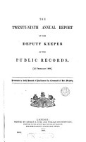 First   120th  report of the deputy keeper of the public records PDF