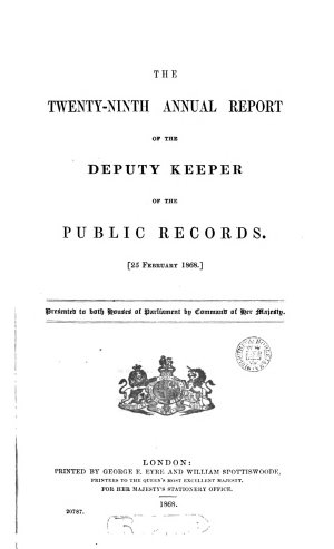 First   120th  report of the deputy keeper of the public records