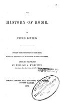 The History of Rome  Books 37 to the end  with the epitomes and ragments of the lost books  Tr  by William A  M Devitte PDF