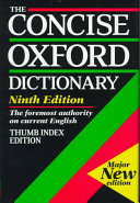 The Concise Oxford Dictionary of Current English PDF