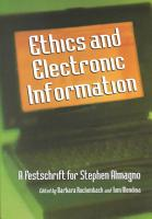 Ethics and Electronic Information PDF