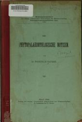 Phytopalaeontologische Notizen
