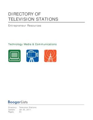 BoogarLists   Directory of Television Stations PDF