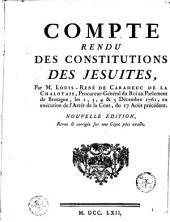 Comte rendu des constitutions des Jésuites