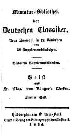 Neue Miniatur-Bibliothek der Deutschen Classiker: Band 7