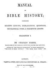 Manual of Bible history. Gradation 1-3: Volume 1