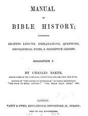 Manual of Bible history  Gradation 1 3 PDF