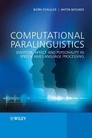 Computational Paralinguistics PDF