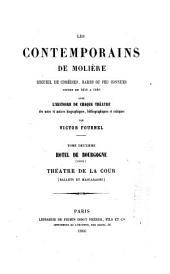 Les contemporains de Molière: recueil de comédies, rares ou peu connues, jouées de 1650 à 1680, avec l'histoire de chaque théâtre, des notes et notices biographiques, bibliographiques et critiques, Volume2