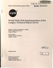 World Wide Web Implementation of the Langley Technical Report Server PDF