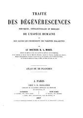 Traité des dégénérescences physiques, intellectuelles et morales de l'espèce humaine et des causes qui produisent ces variétés maladives