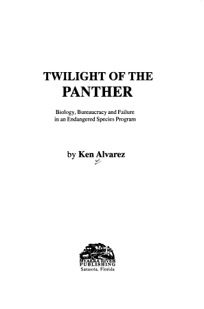 Twilight of the Panther PDF